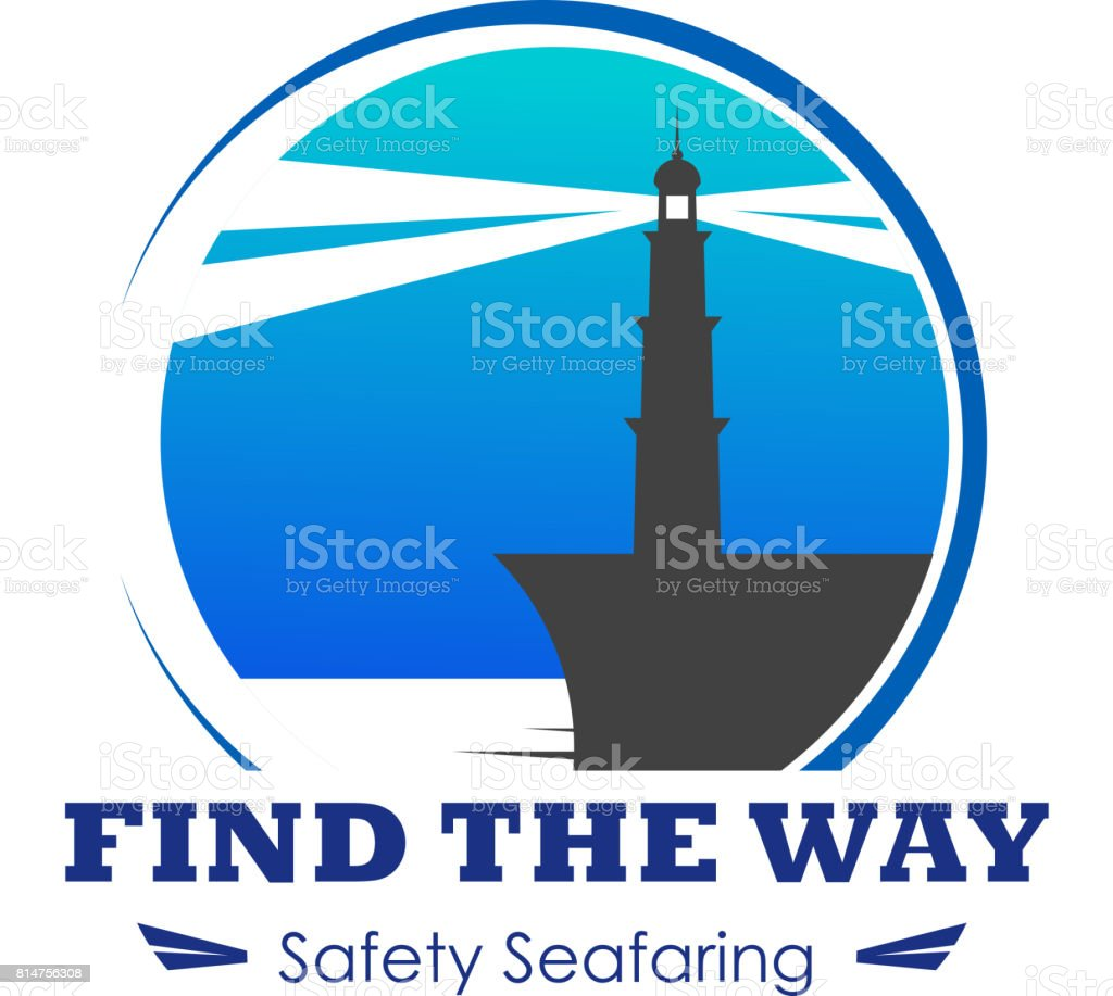 Vector icon of lighthouse for safety seafaring vector art illustration