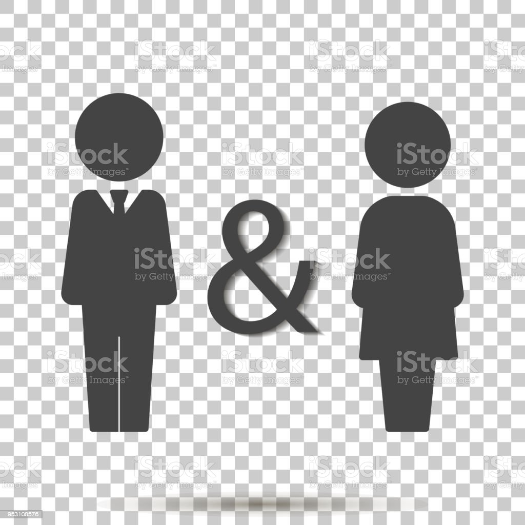 Vector Icon Of Man And Woman Family Symbol Of Proximity Support