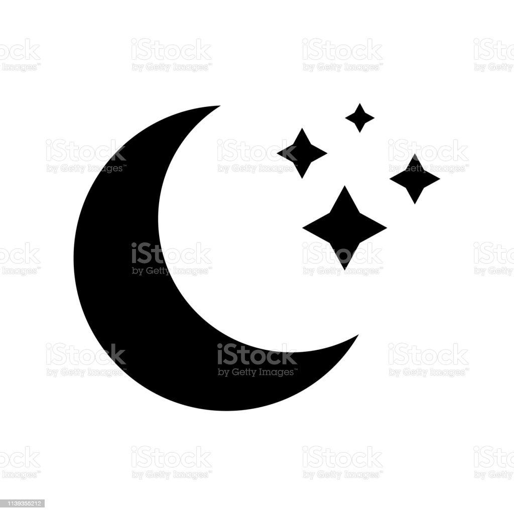 Vektorsymbol Des Mondes Ohne Hintergrund Schwarzes Mondzeichen
