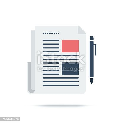 istock Vector Icon of Newspaper 499508076