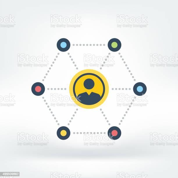 Vektorsymbol Des Sozialen Netzwerk Stock Vektor Art und mehr Bilder von Anonymous - Aktivistengruppe