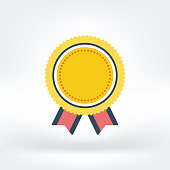 Vector illustration of guarantee, success, achievement. Flat style icon isolated on white background.