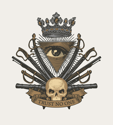 Vector Icon of the Masonic symbol All-seeing eye