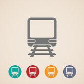 vector icon of train. metro, underground or subway train.
