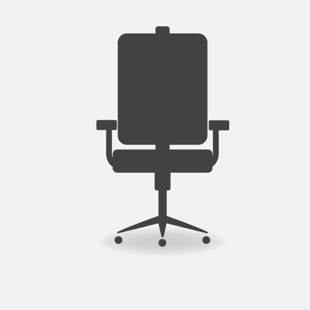 vektor-symbol bürostuhl - stuhllehnen stock-grafiken, -clipart, -cartoons und -symbole
