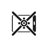 Vector icon or illustration showing mobile internet advertise in one