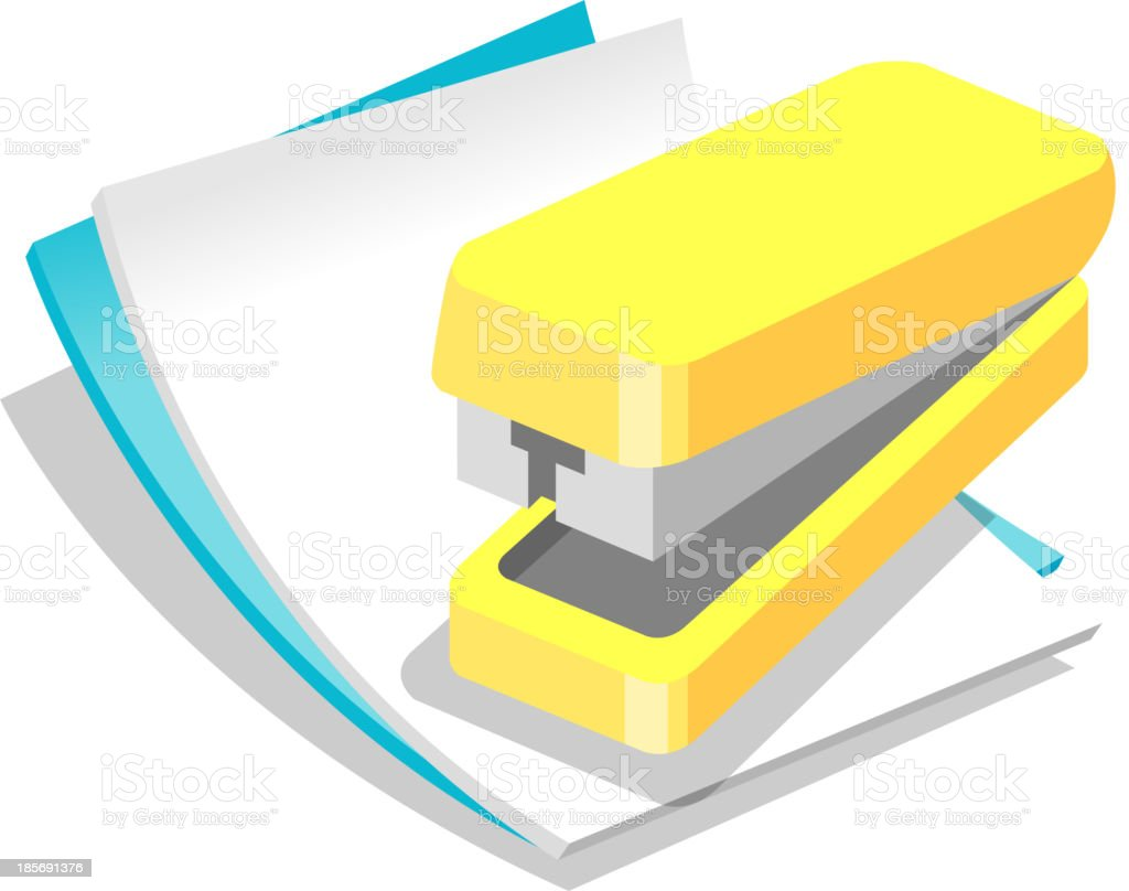 Vector icon paper and stapler royalty-free vector icon paper and stapler stock vector art & more images of business