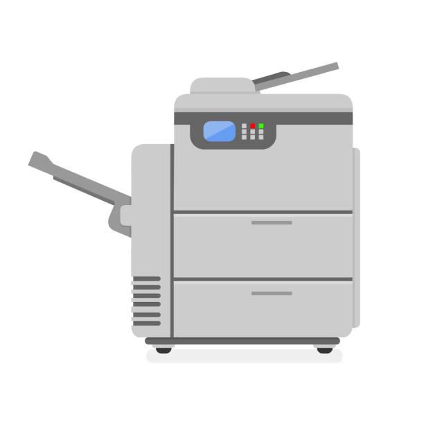vector icon photocopier illustration icon - kopiować stock illustrations