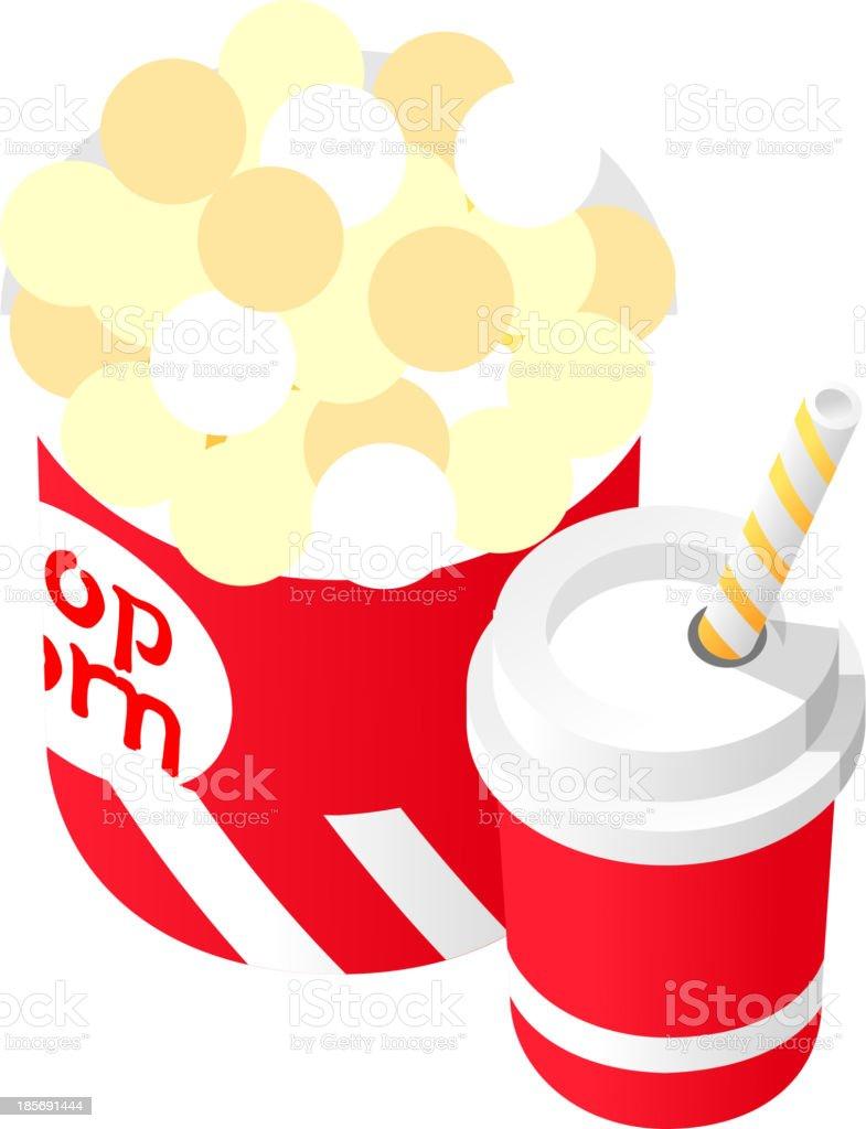 Vektor Icon Popcorn Und Getränke Stock Vektor Art und mehr Bilder ...