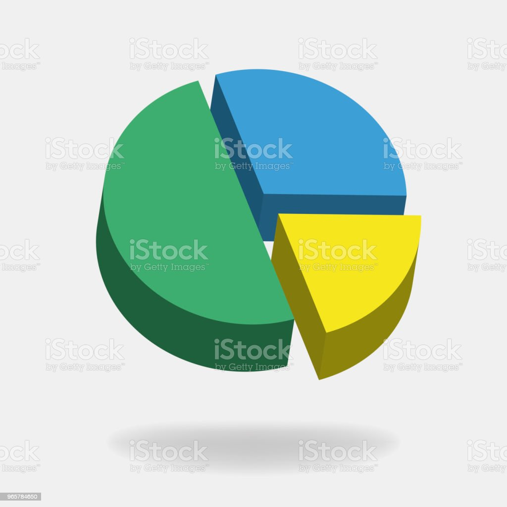 Vector icon round diagram pie. - Royalty-free Awards Ceremony stock vector
