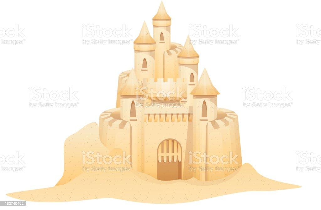 royalty free sand castle clip art vector images illustrations rh istockphoto com Beach Ball Clip Art sand castle clip art black and white