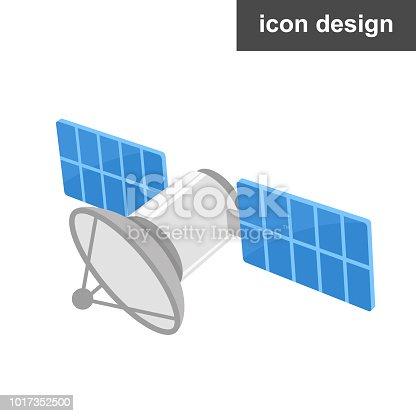 Vector icon satellite
