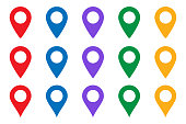 istock Vector icon search map. location place - Map pointer icon. GPS location symbol - Map pin. Map pointer icon. GPS location. 1309877541