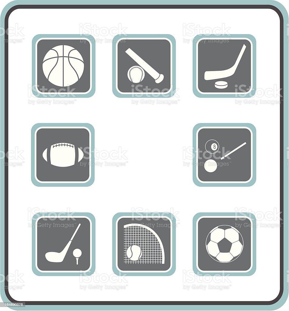 vector icon set 09: sport royalty-free stock vector art