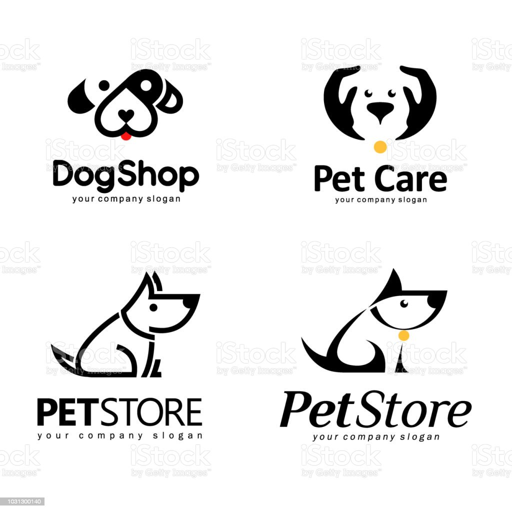 Vector icon set.  Design elements for the pet store vector art illustration