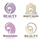 Vector icon set for beauty salon, hair salon, cosmetic, Spa