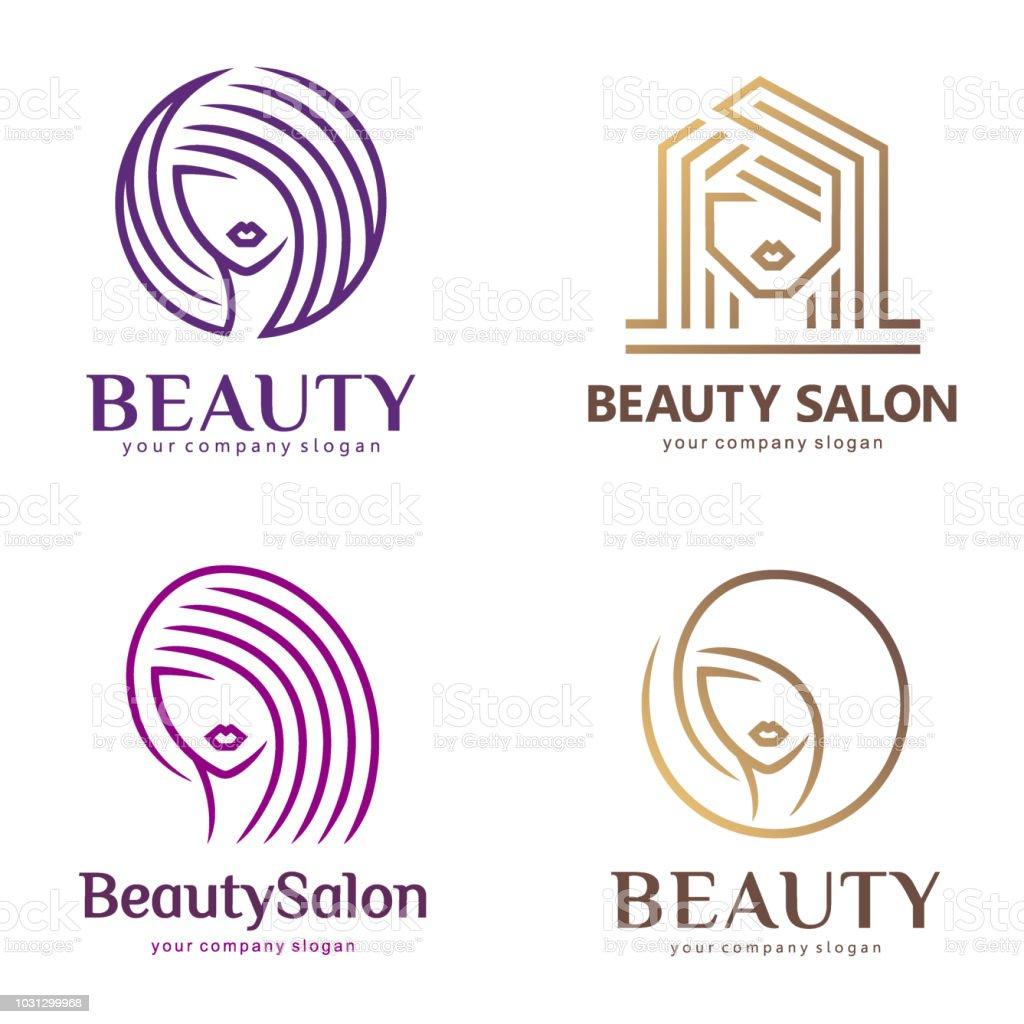 Vector icon set for beauty salon, hair salon, cosmetic, Spa vector art illustration