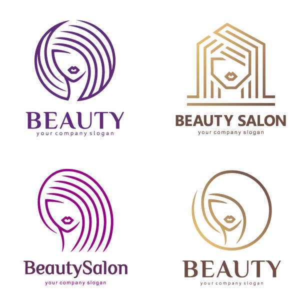 vector icon set for beauty salon, hair salon, cosmetic, spa - hairdresser stock illustrations