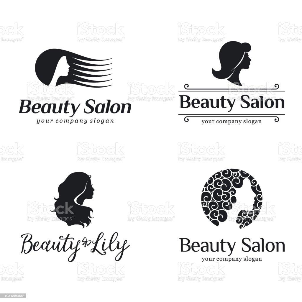 Vector icon set for beauty salon, hair salon, cosmetic vector art illustration