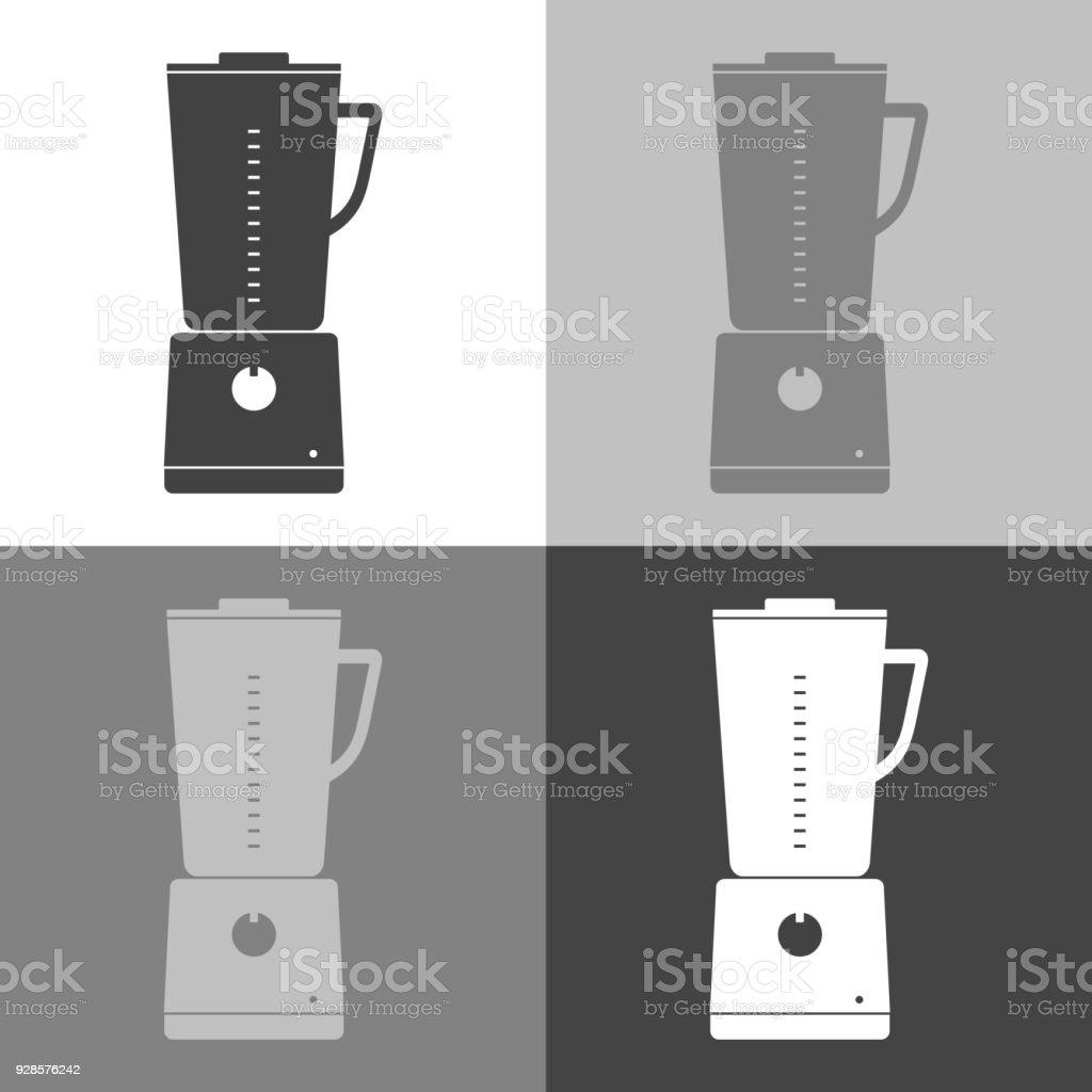 vektor icon set küche stationäre mixer zum mischen und mahlen essen
