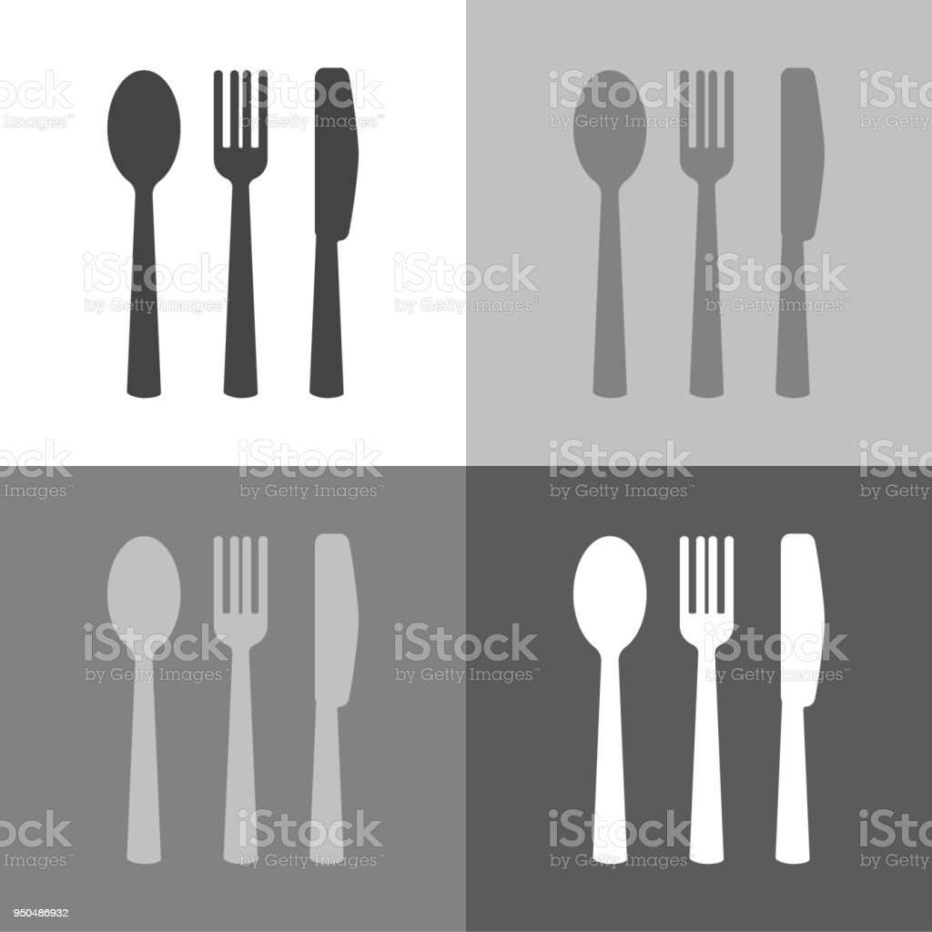 how to set knife and fork on table