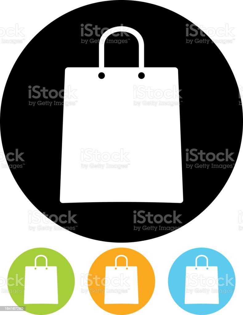 Vector icon - Shopping bag vector art illustration