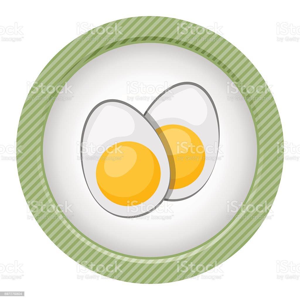 Vektor symbol Scheiben gekochten Eiern. Lizenzfreies vektor symbol scheiben gekochten eiern stock vektor art und mehr bilder von bildhintergrund