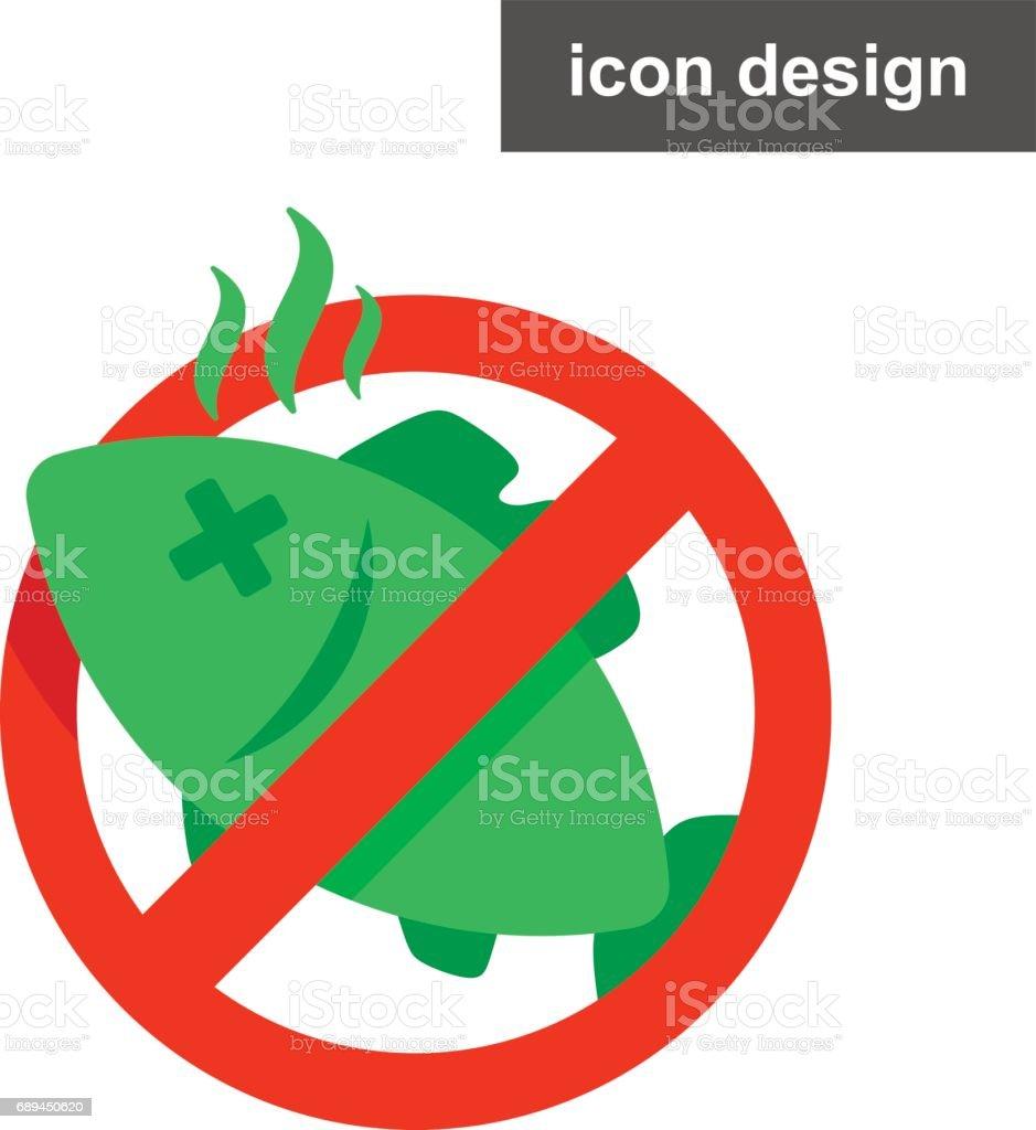 Vector icon sticker stop spoiled food vector art illustration