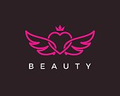 beauty salon vector icon stock illustration