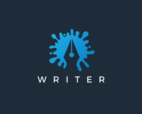 writer vector icon stock illustration