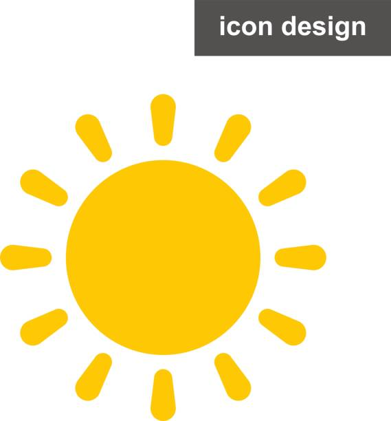 Vector icon sun rays light vector art illustration