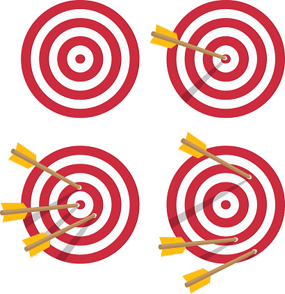 Vector icon target set.