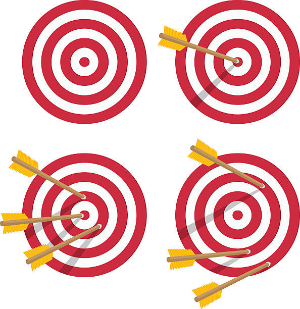 Vector icon target set. - ilustración de arte vectorial