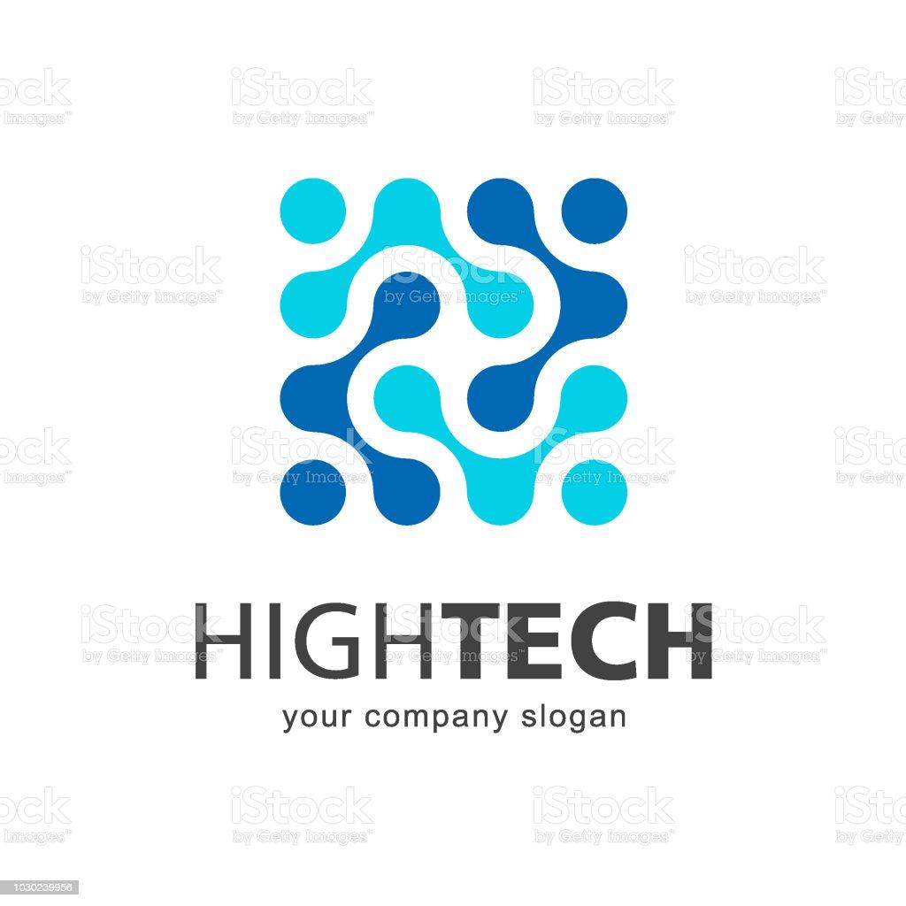 Vector icon template. High technology. Nano technology vector art illustration