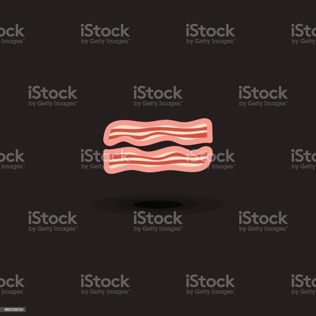 ベクトルのアイコンの 2 つのスライス豚肉ベーコン。分離された図ベーコン ロイヤリティフリーベクトルのアイコンの 2 つのスライス豚肉ベーコン分離された図ベーコン - アイコンのベクターアート素材や画像を多数ご用意