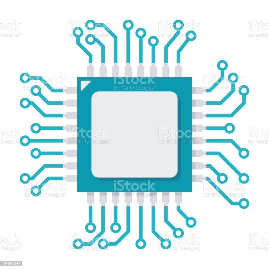 CPU Vector Icon royalty-free cpu vector icon stock vector art & more images of brics