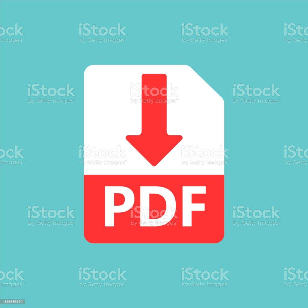 PDF vector icon vector art illustration