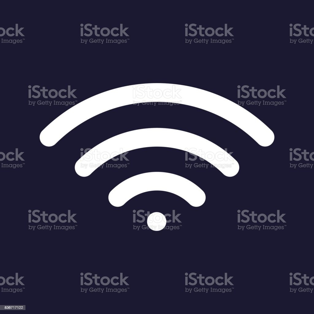 Vector icon wi -fi  on a dark blue background. vector art illustration