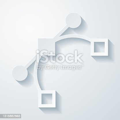 istock Vector. Icon with paper cut effect on blank background 1315882863