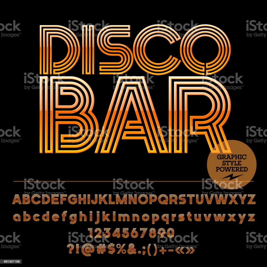 Vector icon with text Disco Bar