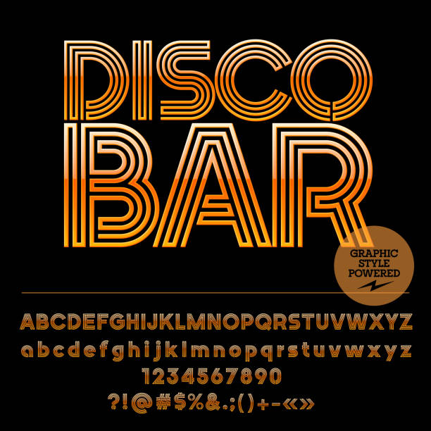 vector icon with text disco bar - dyskoteka stock illustrations