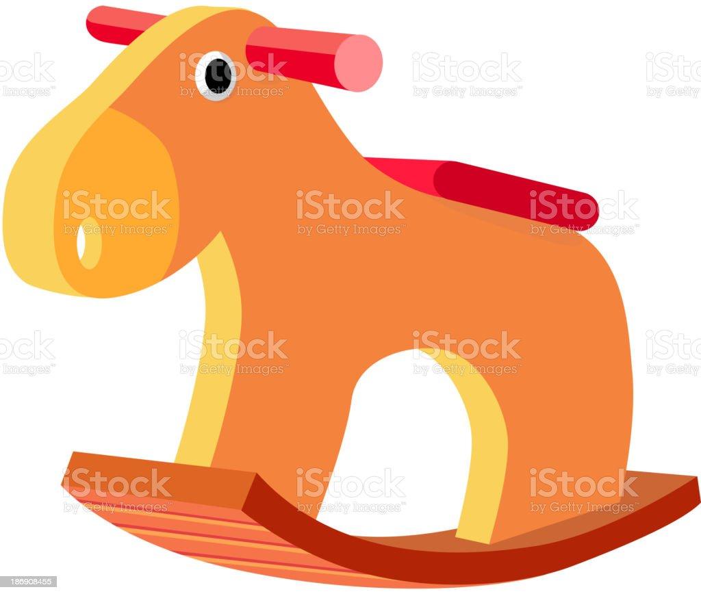 vector icon wooden horse vector art illustration