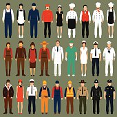 vector icon workers,
