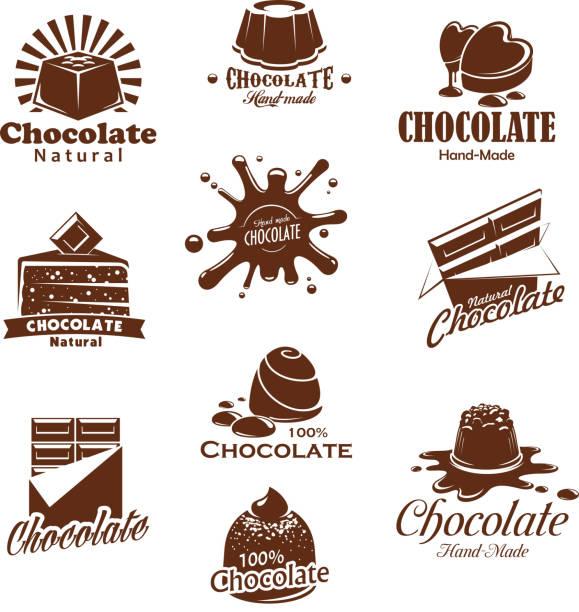 vektor iconis pralinen desserts splash - tiramisu stock-grafiken, -clipart, -cartoons und -symbole