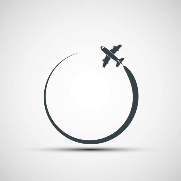 Vector icons aircraft vector art illustration