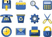Vector Icons - blue and yellow