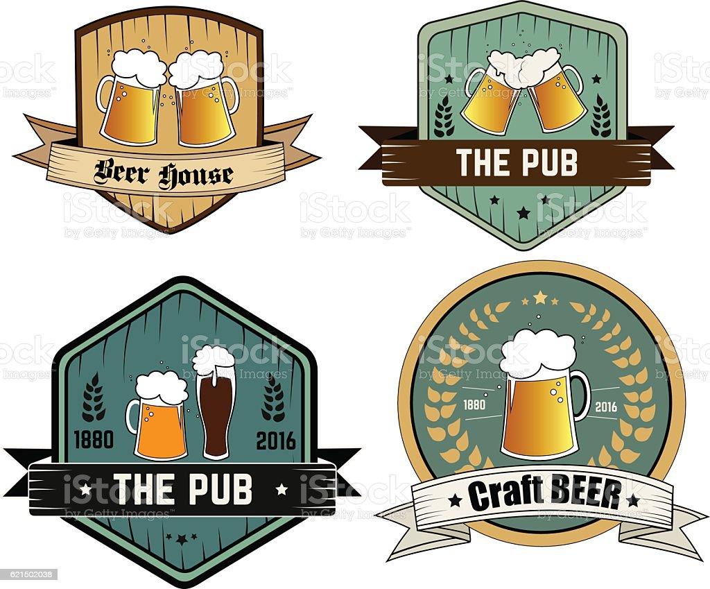 Vector icons for craft beer bar vector icons for craft beer bar – cliparts vectoriels et plus d'images de 1880 libre de droits