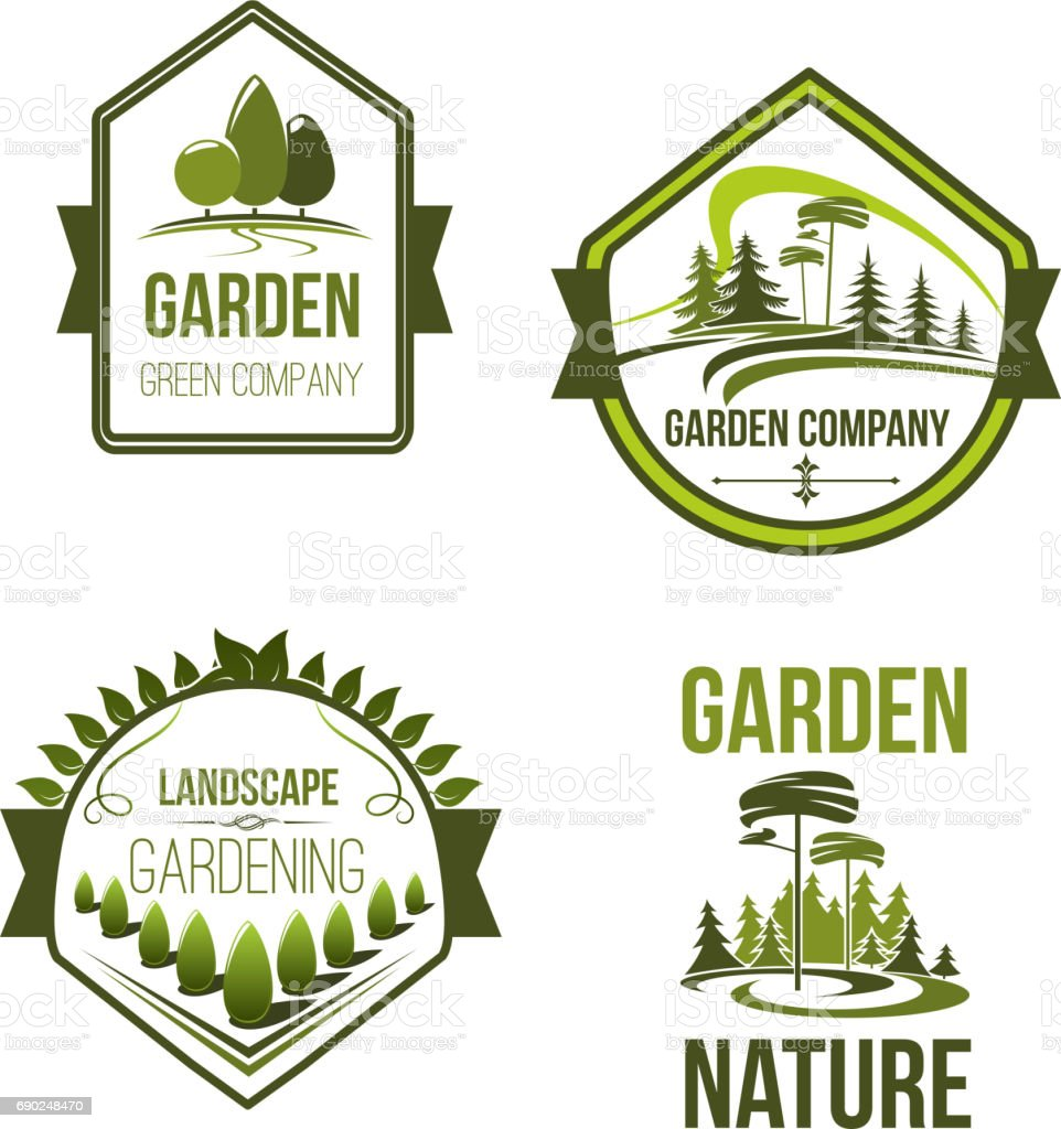 Incroyable Vector Icons For Landscape Or Gardening Company Royalty Free Vector Icons  For Landscape Or Gardening