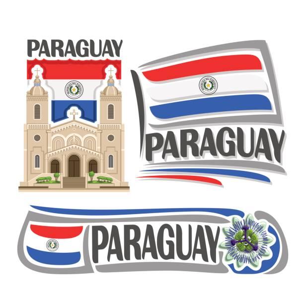 Iconos de vector para Paraguay - ilustración de arte vectorial
