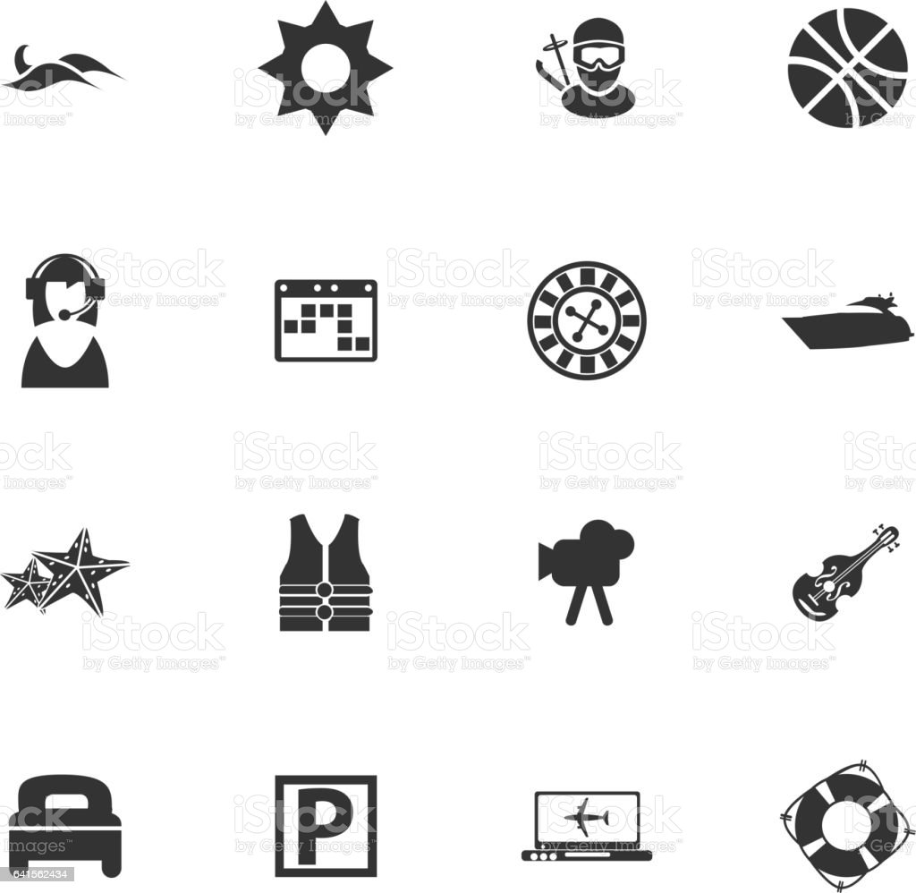 vector icons for user interface design vector art illustration